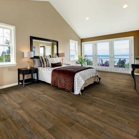Plywood Wood Grain Wear-Resistant PVC Spc WPC Vinyl Click Flooring