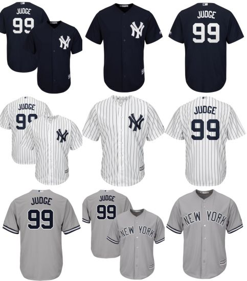 best loved 69dce 4858e New York Yankees Aaron Judge Cool Base Player Baseball Jerseys