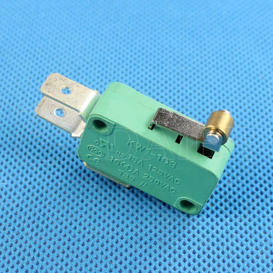 Roller Lever Micro Switch with Short Lever 3 Pin Microswitch (Kw1-103-6) pictures & photos