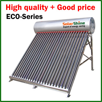 Unpressurized Solar Water Heater with Vacuum Tube Solar Collector