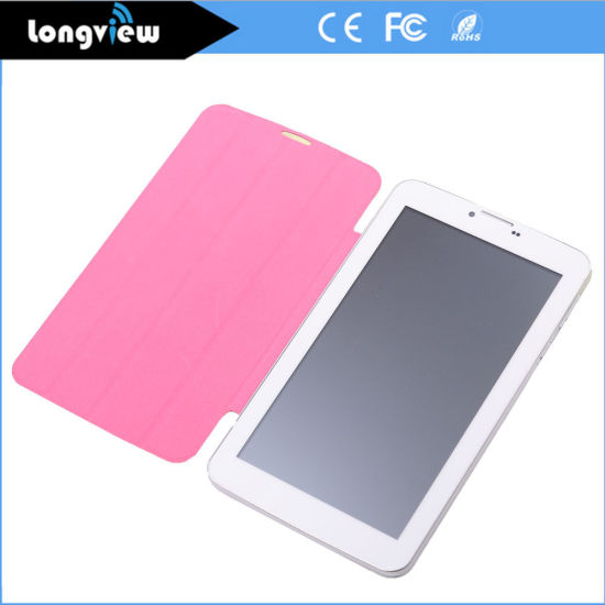 7 Inch Mtk6572 Dual Core 512MB 4GB 8GB 3G Phone Calling Android PC Tablet with Leather Cover