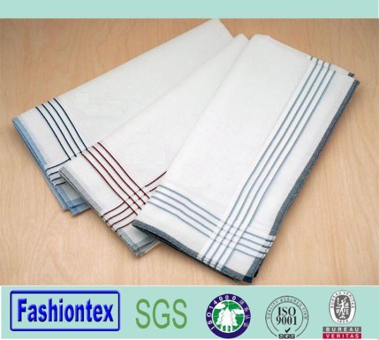 Wholesale Set of 3 100% Cotton Handkerchief Men