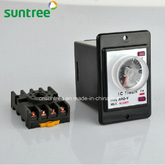 China Ah2-y Time Relay Time Delay Relay 12 Volt Relay 12v 12 Volt Dc Timer Switch