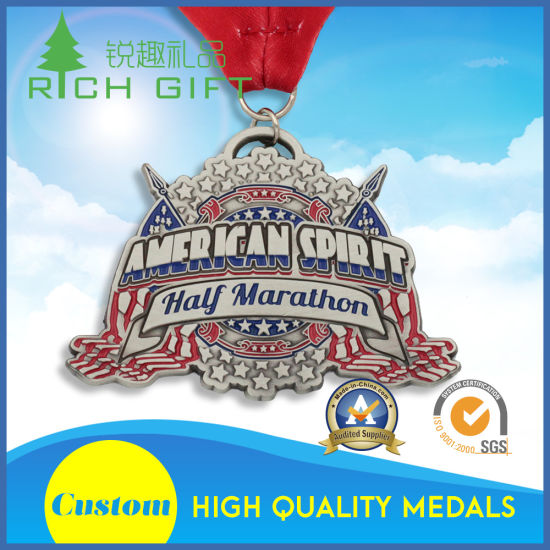 New Design Custom Fine Marathon Running Gold Award Metal Medal pictures & photos