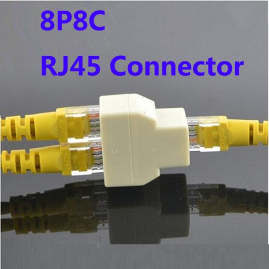 RJ45 8p8c Y-Splitter Female Network Adapter 1 Female to 2 Female Spliter Coupler Connector