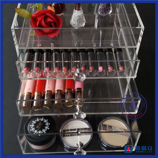 China Manufacturer 4 Drawers Acrylic Cosmetic Organizer pictures & photos