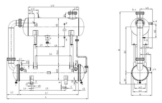 china siphon type evaporator, shell tube evaporator china siphon  siphon type evaporator, shell tube evaporator