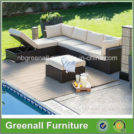 New Design Synthetic Rattan Outdoor Patio Lounge Leisure Sofa Bed Furniture