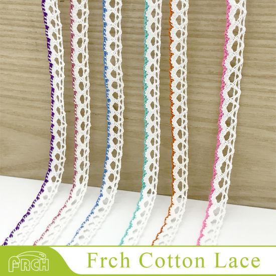 Classic Bestsale Various Colors Braided Decoration Cotton Textile Edge Trim Lace