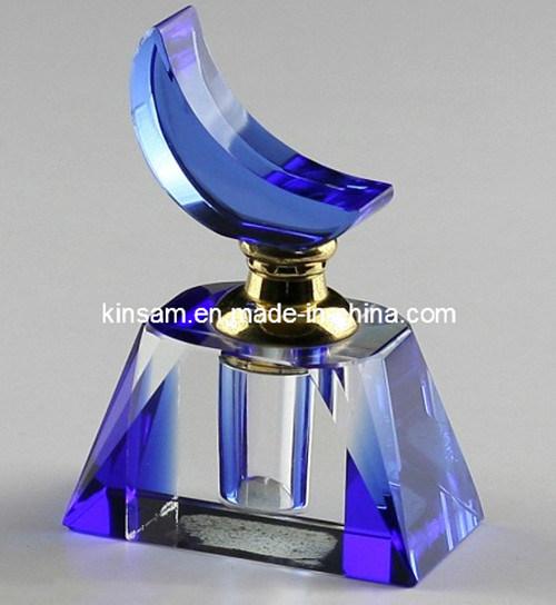 Blue Crystal Glass Perfume Bottle Gift (KS14027)
