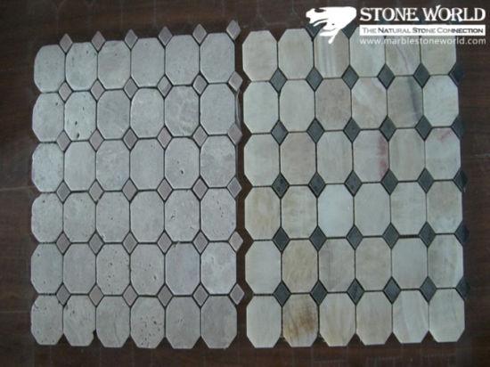 China Mosaic Floor Tile Round Pattern Marble Stone Mosaic China