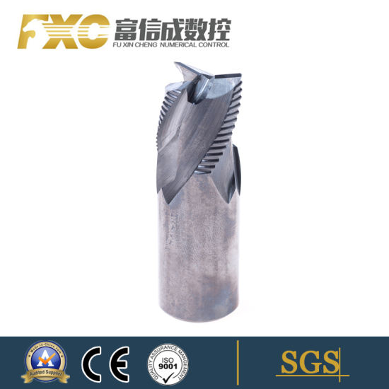 Big Size Standard Carbide 3 Flutes Roughing End Mills Roughing Drilling Tool