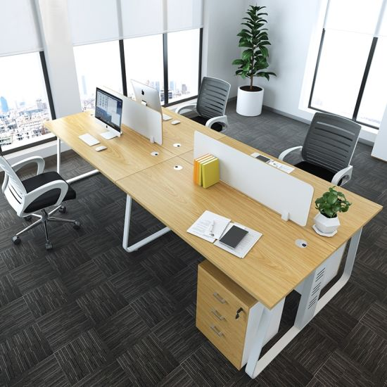 Staff Combination Partition Workstation with Cross Design