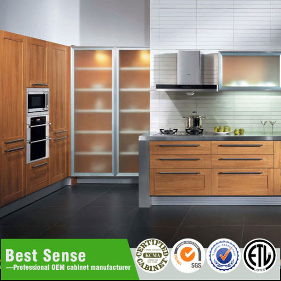 MDF/PVC Modern Kitchen Cabinets for Side Storage with Drawers