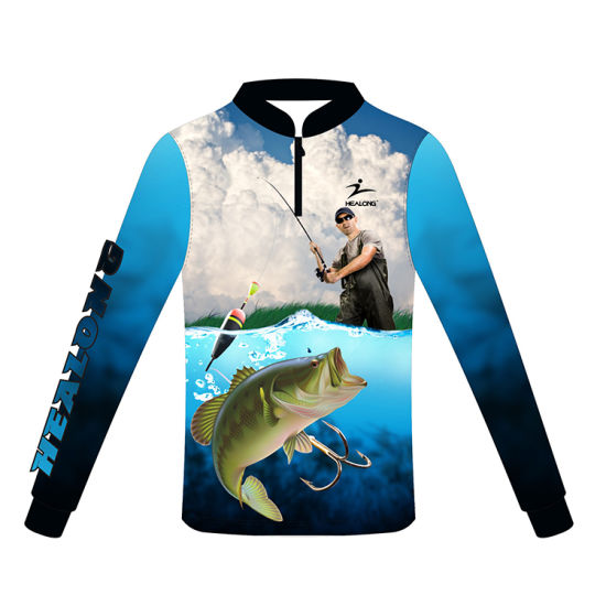 Healong Top Sale Sportswear Digital Printing Sublimation Fishing Jersey Fishing Shirt pictures & photos