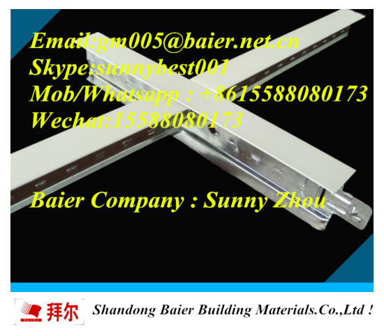 China 32h Ceiling T Grid T Bar Ceiling Tile For Pvc