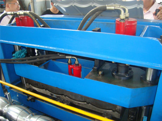 PPGI PPGL Glazed Steel Roof Tile Roll Forming Machine Hangzhou pictures & photos