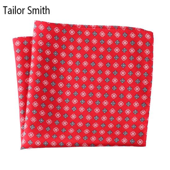 Men Pocket Square Floral Printing Linen Handkerchief 25x25 cm For Business Suit