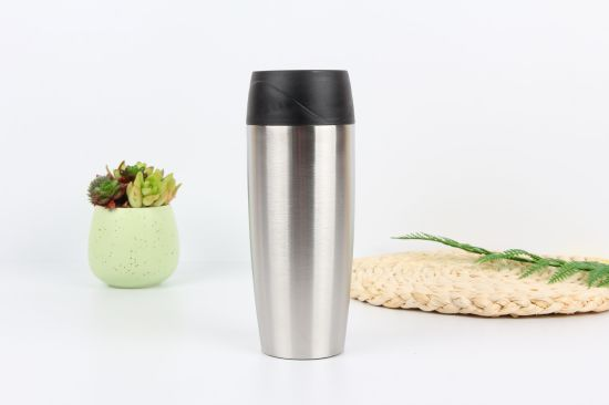 450ml Stainless Steel Travel Coffee Mug with Button Switch Lid (SH-SC64)