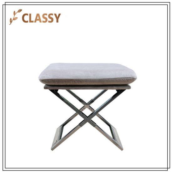 Pleasant China Easy Carry Folding Top Flannel Stool With Metal Base Ibusinesslaw Wood Chair Design Ideas Ibusinesslaworg