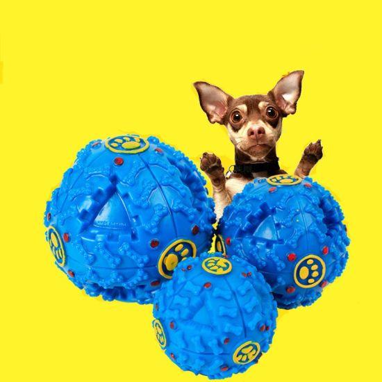 Dog Squeaky Toys Ball Puppy Large Sound Chew Molar Toy Leak Food Feeding