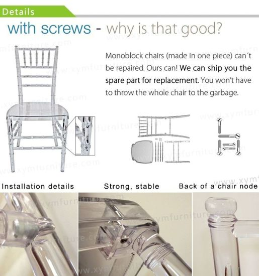 Wedding Dining Chairs/Acrylic Wedding Party Chiavari Chairs pictures & photos