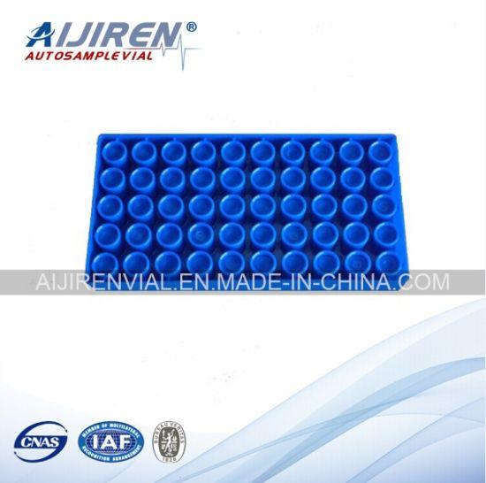 Pack of 5 Autosampler Vial Rack 50 Vials Polypropylene