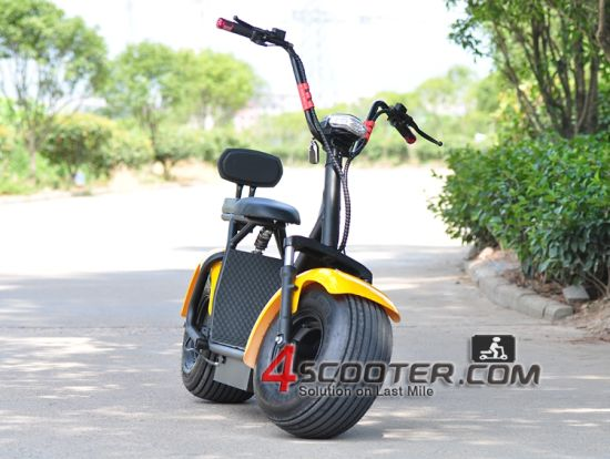 Motorized Pedel Harley Electric Motor Scooter Wheel 2 Seats Es8004 pictures & photos