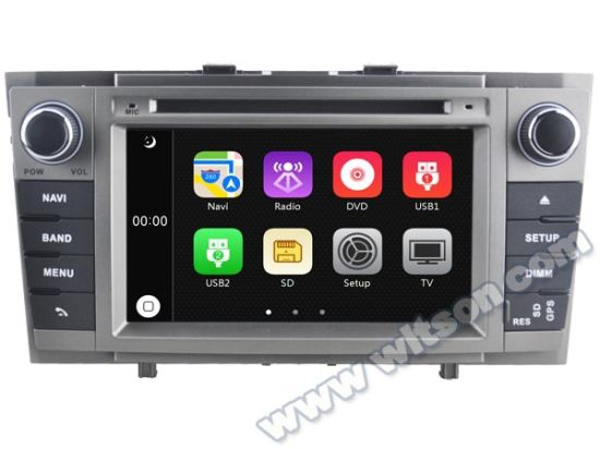 Witson Car DVD Player with GPS for Toyota Avensis 2008-2013 (W2-D6585) pictures & photos