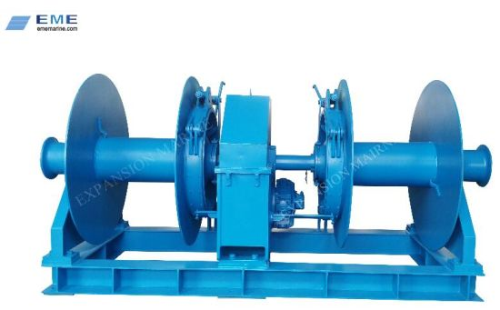 Marine Double Drums Hydraulic Winch with 15ton Pulling Capacity
