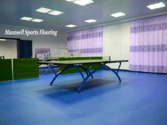 PVC Indoor Sports Flooring with Ittf Standard Used for Table Tennis Courts pictures & photos