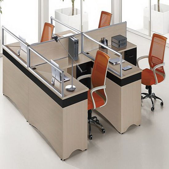 4 Seats Office Desk Partition Screen