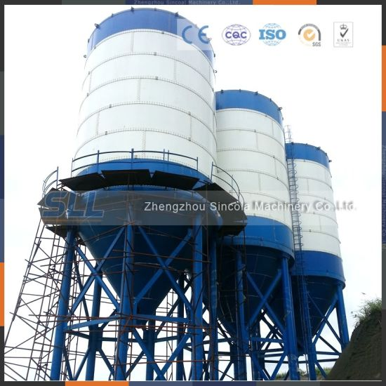 China 100ton Concrete Batching Plant Used Cement Silo Price China