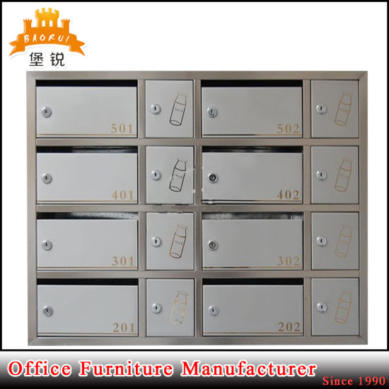 Bas 119 Moden Design Stainless Steel Post Box Letter Mail Cabinet
