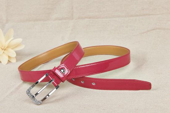 Gloss Fashion Split Leather Lady's Belt