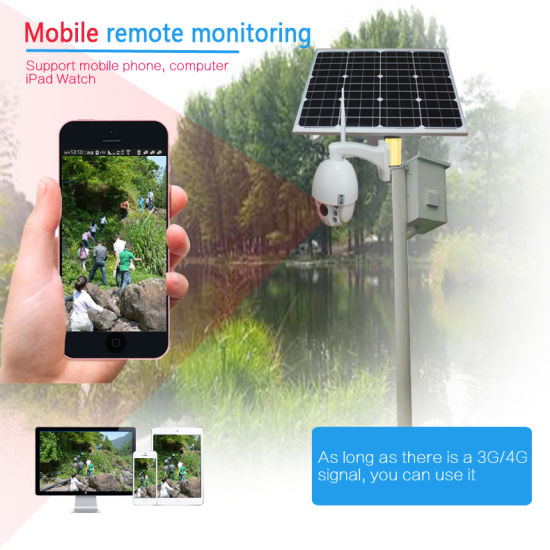 HD 1080P 3G 4G WiFi PTZ 5X Zoom CCTV Camera with Solar Power System 32GB TF Card pictures & photos