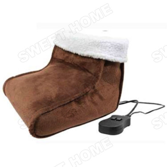 Electric Vibration and Heating Foot Massage Shoes Automatic Vibration Fleece Feet Warmer pictures & photos