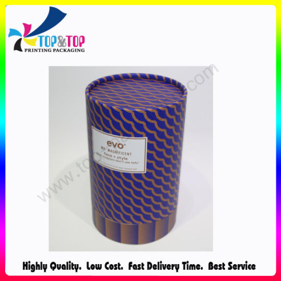 Tube Perfume Packaging Luxury Paper Cardboard Cylinder Box with Lids pictures & photos