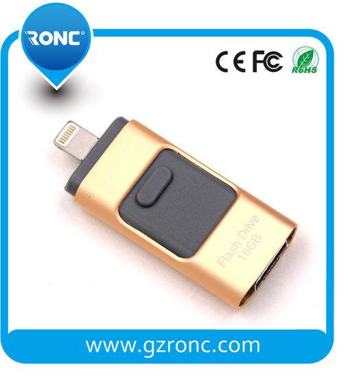 Fast Speed 3 in 1 8/16/32GB USB Flash Drive Stick