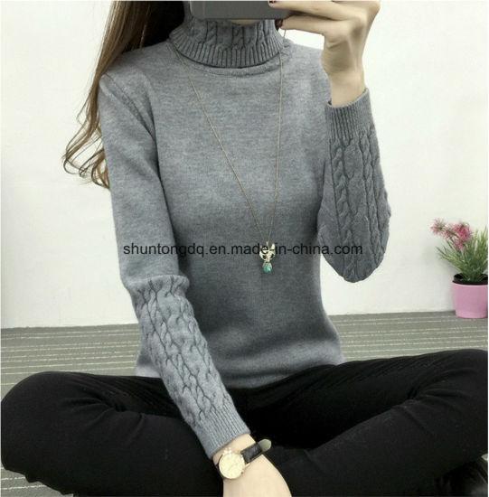 98415fd732 Women Turtleneck Winter Sweater Women Long Sleeve Knitted Women Sweaters  and Pullovers Female Jumper Tops Jersey