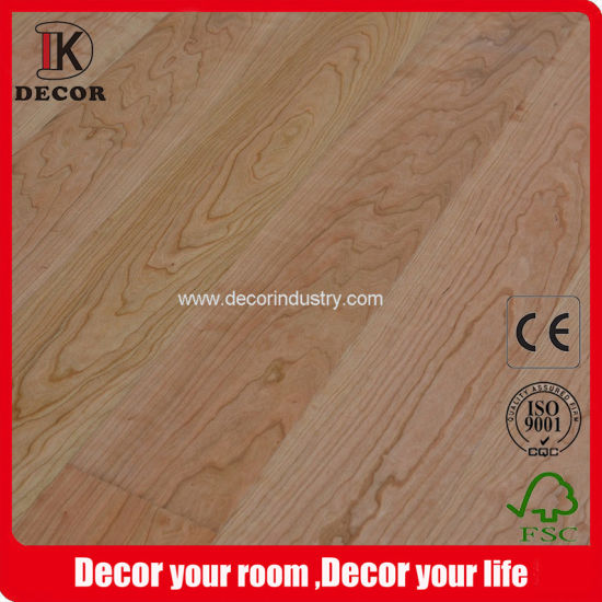 China Engineered Wood Flooring With Natural Cherry Solid Wood On