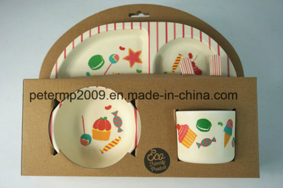 Eco Friendly and Healthy Bamboo Fiber Kids Dinner Set & China Eco Friendly and Healthy Bamboo Fiber Kids Dinner Set - China ...