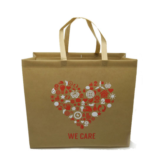 Yellow Non Woven Promotional Big Bag for Shopping pictures & photos