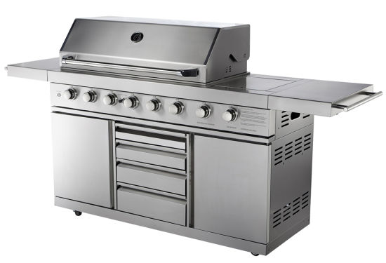 Full Stainless Steel Gas BBQ Grill with Aga for Australia