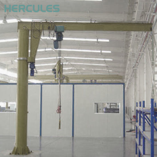 High Quality 360 Degree Jib Crane with Electric Hoist pictures & photos