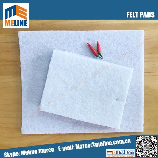 Hard White Felt Pad For Mattress Sofa Needle Punched Polyester Non Woven