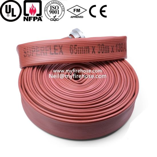 Ageing Resistance of PU Cotton Canvas Fire Hose Price pictures & photos