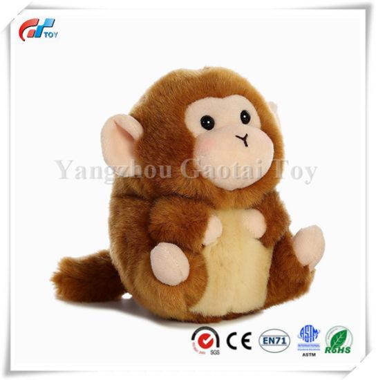 China Cute Mischief Monkey Stuffed Animal Plush Fat Soft Toy China