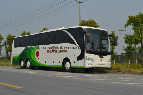 Professional Supply Long Coach Luxury Tourist Bus City Bus of 6 Wheels pictures & photos