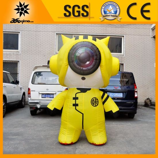 Custom Yellow Inflatable Camera Lens Mascot pictures & photos